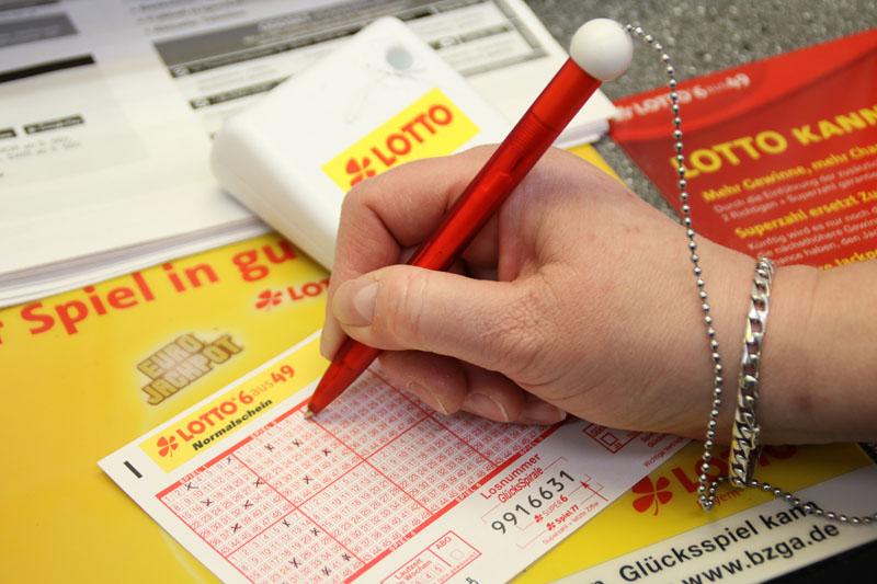 Lottoschein ausfüllen