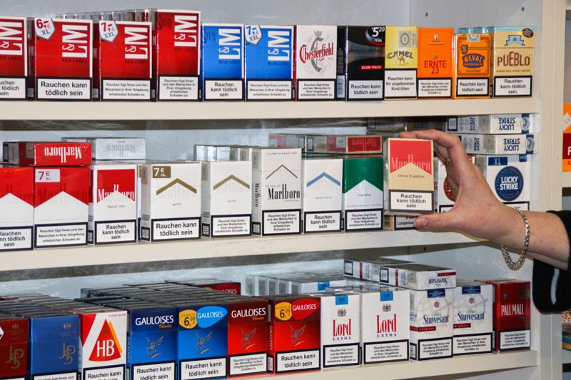 Eine gut sortierte Auswahl an Tabakwaren